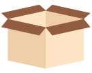 Boxes: moving box, storage box
