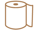 Brown Hand Paper Towels: hand dryer, janitorial supplies