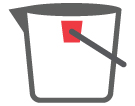 Standard Buckets: Bucket, Pail and mop strainer, bucket for windows
