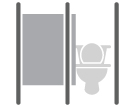 Toilet Partitions: Bathroom stall, stall, urinal screen, washroom, restroom