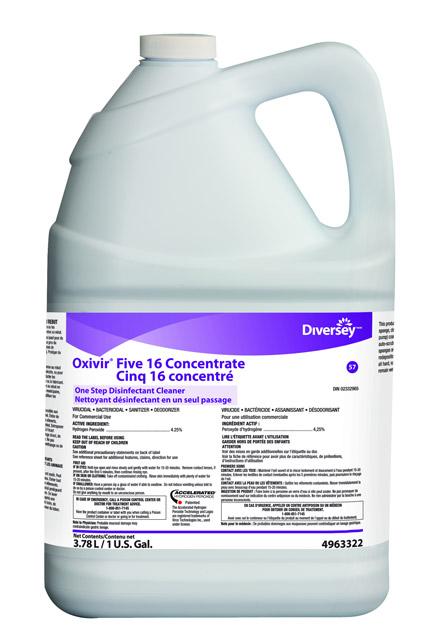 D sinfectant avec peroxyde d 39 hydrog ne oxivir five 16 for Peroxyde d hydrogene piscine