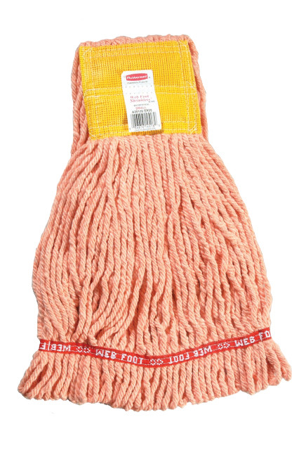 Web Foot Shrinkless Wet Mop, Wide Band #RBA25106ORA
