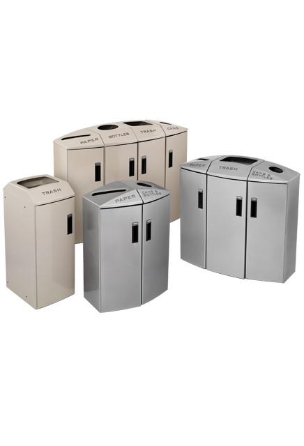 station de recyclage quatre sections avec bandes de. Black Bedroom Furniture Sets. Home Design Ideas