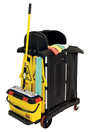 9T75 janitor cleaning cart high security