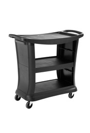 Service Cart with 3-Shelf and 2 End Panels Rubbermaid 9T68 Executive #RB009T68NOI