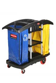 Double Cleaning Cart with Caddies #RB009T79NOI