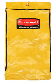 Vinyl zippered yellow bag for Rubbermaid cleaning cart #RB196671900