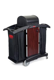 Lockable Double Cleaning Cart Deluxe #RB009T95NOI