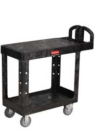 "Utility Cart with 2 Flat Shelves 26"" x 44"" Rubbermaid 4525 #RB004525NOI"