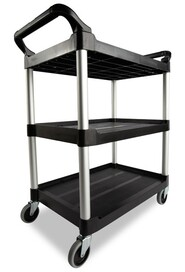 Utility Cart 3 Shelves 3424-88 with Swivel Casters #RB342488NOI