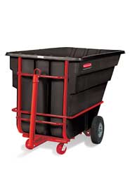Chariot basculant à traineau 1-1/2 verge cube Rubbermaid 1026-41 #RB102641NOI