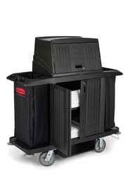 Double Housekeeping Cart with Lockable Doors Rubbermaid 9T19 #RB009T19NOI