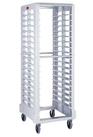 Chariot pour plateaux alimentaires blanc Max System #RB003320CRE
