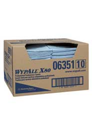 Wipes for Food Processing Plant WypAll X80, blue #KC006351000