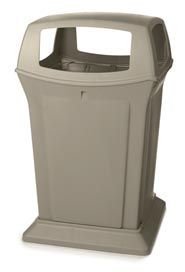 Container with 4 Side Openings 45 Gals. Rubbermaid 9173-88 Ranger #RB917388BEI