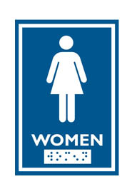 English and Braille Emboss Washroom Sign #FR000961000