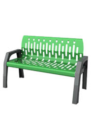 "Park Bench 72"" for Common Area 2040 Frost #FR002040VER"