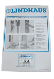 Paper Bags and Filters for Lindhaus Vacuum RX 380/450/500 #HW030320019