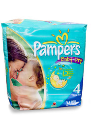 Couches taille 4 (22-37 lbs.) Pampers Baby-Dry #PG45218A000