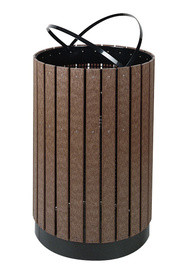 Container with Decorative Plastic Laths Free Standing #RB00H55C000