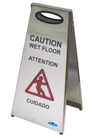 Stainless Steel Wet Floor Sign #FR001119000