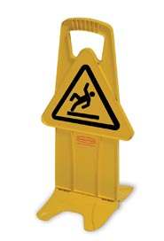 Stable Safety Sign with International Wet Floor Symbol #RB9S0925JAU