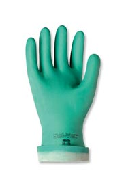 "Embossed Green Nitrile Gloves 13"", 15 Mils Sol-Vex #TR037175008"