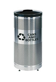 Stainless Steel Recycle Receptacle Classic #RBS3SSGBK00