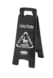 Trilingual 2-Sided Caution Sign Executive Series #RB186750500