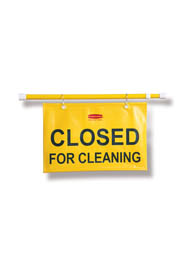"Safety Hanging Sign ""Closed for Cleaning"" in English Only #RB009S15000"