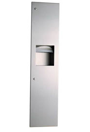 Wall-Mounted Paper Dispenser and Waste Receptacle Trimline Series #BO380349000
