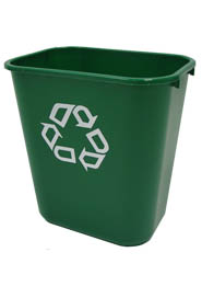 Deskside Recycling Container with Universal Symbol #RB295606VER