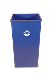 3959-73 50 gal Square Recycling Container #RB395973BLE