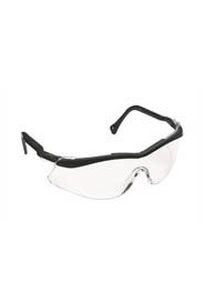 Security Glasses Black Adjustable Temple, Clear Lens #TR001210000