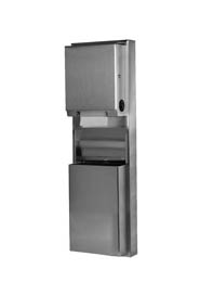 ClassicSeries Surface-Mounted Paper Dispenser and Waste Receptacle #BO039619000