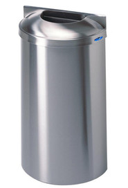 Stainlesse steel wall mounted waste receptacle #FR00312S000