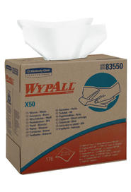 Wypall X50 Wipers Pop-up box White #KC083550000