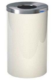 Lobby Waste Receptacle Polish Stainless Steel 33 gal #FR00310W000