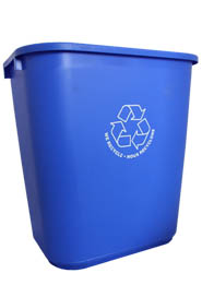 Commercial Recycling Wastebaskets with logo #AL028181BLE