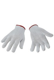 Light Duty String Knit Gloves, White #SE00012W00L