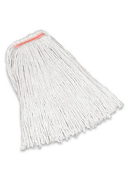 Premium Cut-End Cotton Wet Mop, Narrow Band #RBF11600BLA