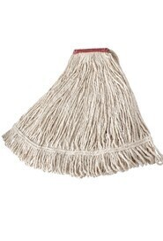 Economy Cotton Wet Mop Wide Band #RBV15600BLA
