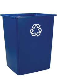 Square recycling container Glutton #RB256B73BLE