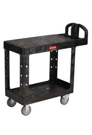 "Utility Cart with 2 Flat Shelves 19"" x 38"" Rubbermaid 4505 #RB004505NOI"