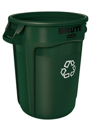 2620 Recycling Station Container 20 Gal Brute with we recycle logo #RB192682800
