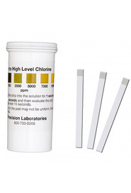 Chlorine Test Strips 10,000 ppm #PCCHL10000V