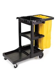6173-88 Janitor Cleaning Cart Zippered Yellow Vinyl Bag #RB617388NOI