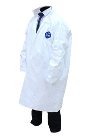 Tyvek Disposable Lab Coats White #SE060300000