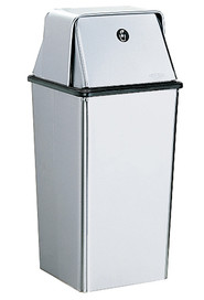 Waste Receptacle 13 gal with Swing Door Top #BO002250000