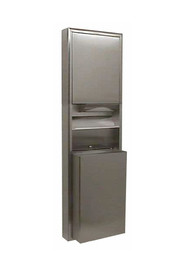 ClassicSerie Combo Paper Towel Dispenser 12 gal Waste Receptacle #BO003949000